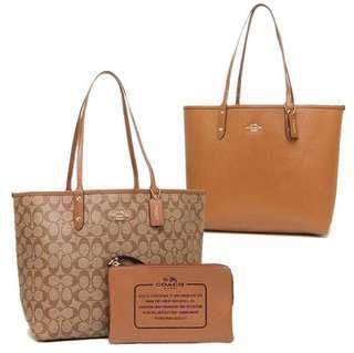 Coach Reversible Signature Tote Bag