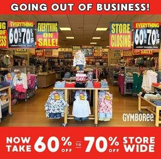Gymboree pickering town center.  Fixtures 50% off