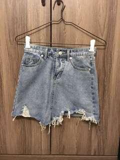 🚚 BN ripped denim skirt