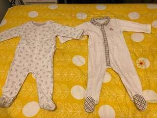 Jacadi sleepsuits x 2