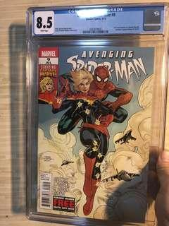 Avenging Spiderman #9 CGC 8.5 (First Carol Danvers become Captain Marvel) New Case.