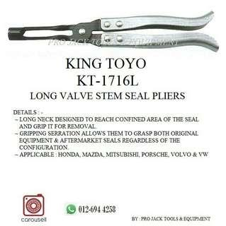 KING TOYO Long Valve Stem Seal Pliers