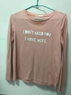 🚚 粉色薄長袖