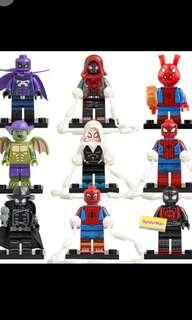 🚚 WM 626-634 Spiderverse Minifigures