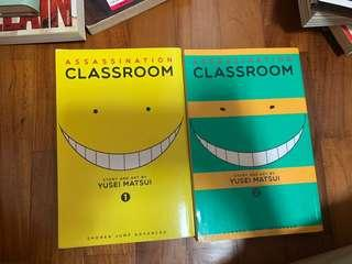 🚚 assassination classroom vol 1&2 ENG