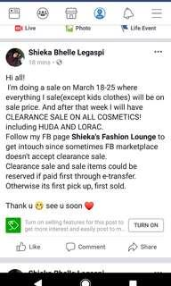 To see what's on sale pls read