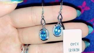 【輕珠寶】拓帕石 耳勾式耳環