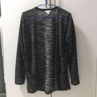 Dark Grey Speckled Cardigan Jacket