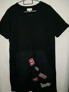 Short Sleeve Black Long Top #MMAR18