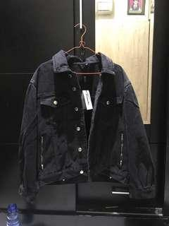 Pomelo Oversized Dark Wash Denim Jacket