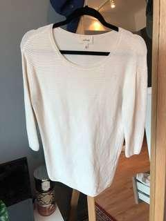 Wilfred/Aritzia scoopneck ribbed sweater