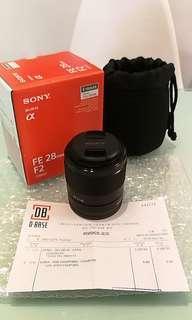 99%新淨 行貨 Sony SEL28F20 E-mount 廣角大光圈定焦鏡頭 28mm F2.0 未出街用過