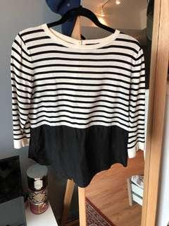 COS mid length sleeve top