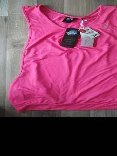 Drop armhole run tank sports women