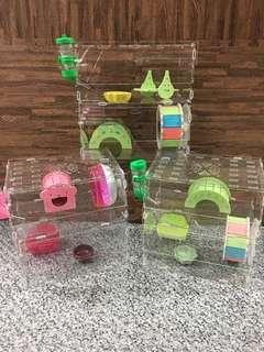 Instock 30cm Acrylic Hamster Cage for mouse rat small animal