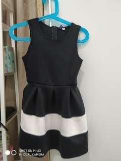 Dress black and white (harga pas)