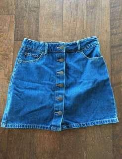 Vintage denim skirt size S