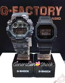 🚚 COUPLE💝PAIR SET : 1-YEAR OFFICIAL WARRANTY: 100% ORIGINAL AUTHENTIC G-SHOCK : Best Gift For Most Rough Users & Unisex : GD-120CM-8 + DW-5600BB-1 / GD120CM-8 / DW5600BB-1 / GSHOCK / BABYG / CASIO / WATCH