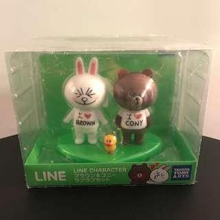 Line Friends Figures Brown and Cony