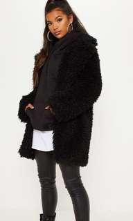 Sz 2 Black Teddy Coat BNWT