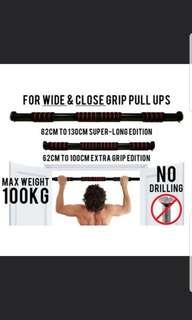 Doorway Pull Up Bar / NO Drilling / Chin Up Bar / SUPER LONG GRIP / New Model free delivery