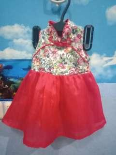 Dress bayi cheongsam 9-12 months