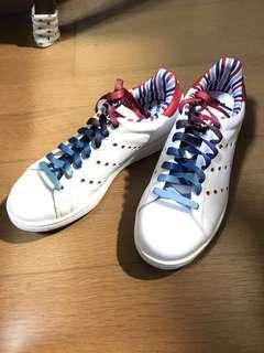 🚚 adidas originals stan smith 彩虹鞋帶 條紋 休閒鞋