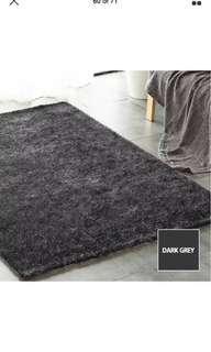 Soft shaggy floor confetti rug  Dark Grey