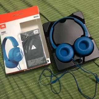 Original JBL T450 Blue Headphones