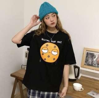 [po] tumblr harajuku ulzzang cookie oversized tee