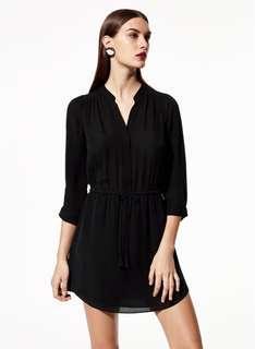 Aritzia Talula Babaton Bennett Silk Shirtdress | Black, S
