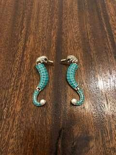 FREE SHIPPING Seahorse summer earrings