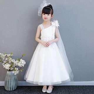 🚚 White Dress Flower girl dress Princess Dress
