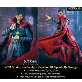 [Preorder] NOTA Studio, Headsculpt + Cape for SH Figuarts Dr Strange (figure sold separately)