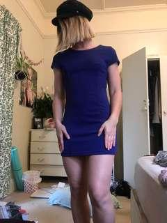 Royal blue work bodycon dress size 6