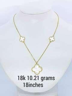 18k van cleep & arpels inspired necklace 18""
