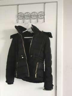 Zara black puffer down jacket