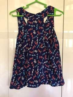 Blue Ribbon Design Sleeveless Top