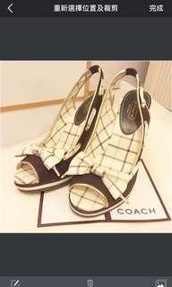 👠 Coach platform shoes Size 7.5