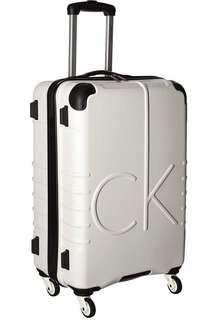 "Bnew Authentic CALVIN KLEIN Unisex CK-526 Islander 24"" Upright Suitcase, White"
