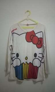Baju panjang hello kitty