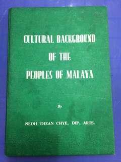Cultural background of malaya book