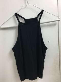Black high neck tank top