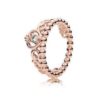 Pandora Rose Gold Princess Tiara Ring
