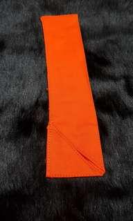 NEW Orange Pouch for Long Metal Straw