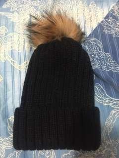🚚 全新_韓版黑色毛帽