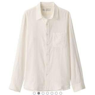 🚚 無印良品 印度二重棉男版襯衫
