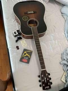 Acoustic Guitar including accessories and cover