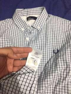 (TurunHarga) Fred Perry Long Shirt M9627