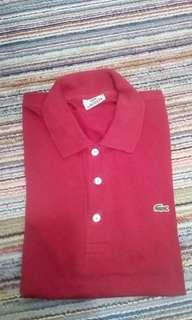 Lacoste red poloshirt size 4 mulus abis
